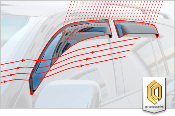 Ветровик окна двери (дефлектор двери) производства СА-пластик